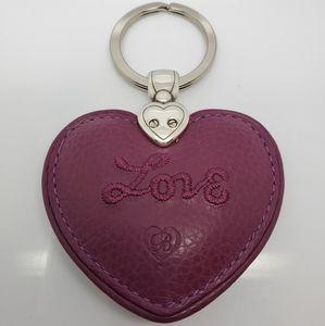 Brighton Branded Heart Keychain